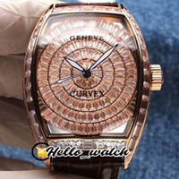 TWF Neue V2-Version Grand Cintree Curvex Gypsophila Diamant-Zifferblatt 8880 Automatische Herrenuhr Rose Gold Full Diamond Brown Leder Hello_watch