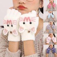 Cinco dedos Guantes Guantes Adorables Chicas Invierno Destacados Animales Gato Perro Panda Diseño Cálido Al Aire Libre Mittens Niños Disfraz Accesorio Cute
