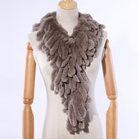 SUPPEVSTDIO Новый роскошный женский зимний меховой меховой шарф подлинный REX кролика меховые шарфы обертывают полоски кисточек меховые шарвы пушистые теплые мягкие J1215