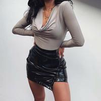 2020 mode neue sexy frauen langarm shirt overall bodysuit stretch treotard top bluse schlank mesh jumpsuit heiße bodysuits