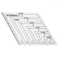 Trasparente trapuntatura cucito Patchwork righello modello di misurazione esagonale fai da te fatti a mano su misura forniture strumenti1