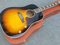 Sunburst de 41 pulgadas Spruce sólido Top J160 Guitarra acústica Rosewood Atrás y lados Guitarra
