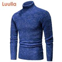Luulla Men Spring New Curric вязаные хлопчатобумажные водолазки свитера пуловер мужские осенний бренд мода смешанный цвет свитер мужчины 201017