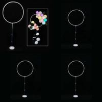 Оформление круга пластиковые базовые стержни разъем декоративное кольцо шар цветные ленты цветок рождения вечеринка украшения обруч Valentines 5 5n N2