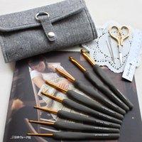 縫製の概念ツール8個/セットジャパンチューリップETIMOアルミニウムかぎ針編みフックニードル樹脂ハンドル編み糸2-6.5 mmギフト織りのセット