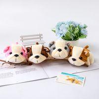 4Colors Perro Peluche Toy Relleno 12 cm Llavero Suave Regalo Animal Pequeño Colgante Pantalla Muñeca
