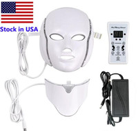 Горячие продажи PDT 7 Цветные светодиодные световые терапии лица красота машина Светодиодная маска для лица с микротоком для избеливания кожи. Бесплатная доставка