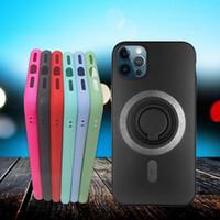 Caixa de telefone de silicone macio criativo para iPhone12 Pro Max Anti-Drop Caixa de telefone de carregamento sem fio para iphone 7 8PLUS XR com anel de suporte