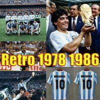 Kundenspezifische Messi 1986 Argentinien Diego Maradona 10 Fussball Jerseys Messi 1978 1994 1996 1998 2006 Riquelme Vintage Messi Online-Shop-Training