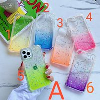 Glitter Star Cases Gradients Cover 3in1 TPU 2.0mm With Airbags for iPhone13 12Promax 11 XR XS 8 SamsungGalaxyS21 PLUS Ultra A11 A31 A01 A12 A32 A51 A71 A52 Xiaomi SHSCASE