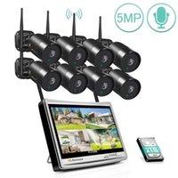 Jennov Kablosuz Gözetim Sistemi Seti 5MP HD WiFi Ev Güvenlik 12 inç LCD Monitör Açık Video Kamera Set1