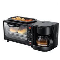 Çok İşlevli Kahve Makinesi Kızartma Tavası Mini Fırın Ev Ekmek Pizza Fırın Kızartma Pan 3 in 1 Elektrikli Kahvaltı Makinesi1