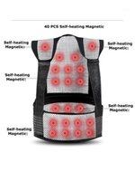 TOURMALINA Autoalentamiento de la terapia magnética del cinturón de la cintura de la cintura de la cintura de la cintura de los hombros de la cañada del suéter chaleco chaleco chaleco de cálido dolor de dolor de espalda 1