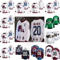 Colorado Avalanche Reverse Retro Hockey 96 Mikko Rantanen Jersey 8 Cale Makar 92 Gabriel Landeskog 95 Andre Burakovsky 29 Nathan Mackinnon