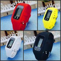 Elektronik Hareketi Saatler Çocuklar Silikon Bilek İzle Dijital LCD Pedometre Erkek Bayan Açık Çok Renkli 4 52FC P2