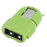 2020 Robot Micro USB to USB 2.0 OTG Adapter Adapter Converter pour tablette téléphonique Android