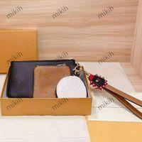패션 womens 클러치 가방 클래식 편지 인쇄 동전 상위 숙녀 가방 3 피스 캐주얼 고품질 레이디 지갑