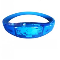 Bracelet Musique Son voix Contrôle de la voix Bracelet Bracelet Nuit Bracelets Bracelets Partie Décoration Bar Dance Sing Bague à la main 3 N5i0w