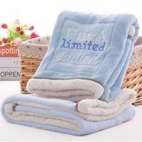 High Quality Baby Blanket Thermal Fleece Cobertor Infantil Swaddle Nap Receiving Stroller Wrap Newborn Baby Bedding Bebe Blanket LJ200819