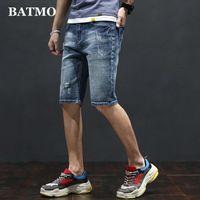 Batmo 2020 new arrival high quality casual slim elastic jeans men ,men's denim shorts ,skinny jeans men W006