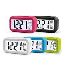 홈 사무실 여행을위한 Snooze 기능 시계 LED 디지털 알람 시계 학생 테이블 시계 홈 사무실 여행 DWE3120