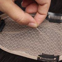 Человеческие ременные волосы шелковые базовые волосы для чернокожих женщин топпер ручной работы ручной работы