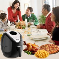 1800W 5.3L Electric Air Fryer LED Display Timer and Temperature Control Healthy Eating Kitchen Appliance Black