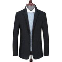 Männer Jacken Plus Größe 8XL 6XL 5XL 4XL Classic Herbst Winter Lässige Männer Wollmäntel Warme Slim Single Button Outwear Solide Manteile