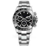 Горячие Продавец Мужские Часы 116500LN Дизайнер Часы Автоматическая наручные часы Серебряная керамическая бешель 316L Steel Routustable складной пряжки