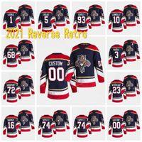Florida Panthers 2021 Retro Retro Aleksander Barkov Jonathan Huberdeau Mike Hoffman Aaron Ekblad Vincent Trocheck Bobrovsky Jersey