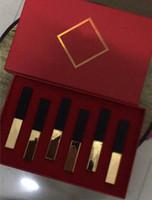 Rujlar 6 Renkler Makyaj Seti Nemlendirici Ruj 6 1 lipgloss Set ve Kaliteli Kozmetik Kiti DHL Ücretsiz Kargo