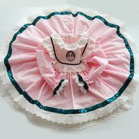 Bebek Kız Pembe Dantel Türkiye Vintage Elbiseler Çocuklar için Lolita Prenses Balo Doğum Günü Partisi Elbise F1217