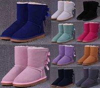 2021 Nova chegada mulheres botas de neve moda inverno bota clássico mini tornozelo senhoras curtas meninas botas femininas cinza castanha marinha azul