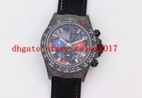 Mens 핫 판매 최고의 디브 크림 블랙 블루 화이트 다이얼 다이얼 JH ETA 7750 전체 단조 탄소 베젤 크로노 그래프 운동 자동 시계