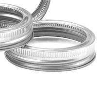 Mason Kavanoz Kupası Kapak Teneke Mühür Yukarı Split Can Kapakları Sızdırmaz Kaplama Gümüş DIY Şişe Kapak 70mm 86mm 0 8RT2 F2
