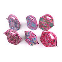 12 colori Promozionale Lily Pulitzer Neoprene Pranzo Cooler sacchetti per la scatola del pranzo alimentari 50pcs DDC4022