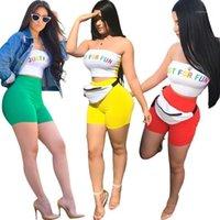 Sommer Sexy Crop Top und Shorts Zweiteiler Set Trainingsanzug Frauen 2 Stück Sets Damen Outfits S33481