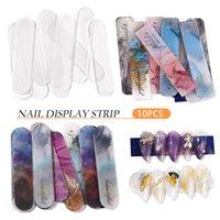 10 pcs Dicas de unhas falsas exibição mostrando prateleira reutilizável Arte de unhas de arte de suporte de cartão de placa para ferramentas de salão polonês gel