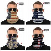 Bandana Old Glory Americana Bandeira Sem Emenda Pescoço Gaiter Escudo Scarf Face Mask Proteção UV Motocicleta Ciclismo Equitação Correndo Headbands