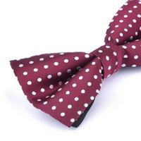 12 * 6cm 넥타이 남자 Bowknot 성인비 넥타이 스트라이프 도트 조정 가능한 목걸이 벨트 나비 셔츠 액세서리 2pcs / lot