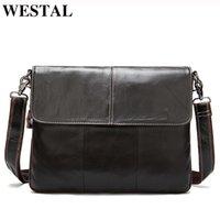 WESTAL Designer Bag For Bags Men Man Leather Male 8007 Postman Messenger Satchels Shoulder Men's Genuine Hbcip