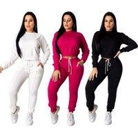 Echoine Осенние Зимние Женщины Cousssuit 2 Шт. Набор Урожай Топ Брюки Установить Sportwear Соответствующие Тренировки Потные Костюмы Женщины jogging