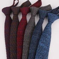 العلاقات الرقبة 2021 5 سنتيمتر محبوك ربطة العنق للنساء تصميم الرجال متماسكة رئيس شقة الحياكة الهدايا شفرة ثلج