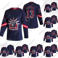 2020-21 Reverse Retro Alexis Lafreniere Jersey New York Rangers Artemi Panarin Kaapo Kakko Chris Kreider Mika Zibanejad Mark Morgendeis Gretzky