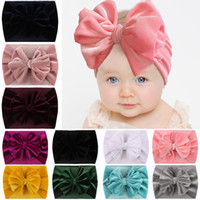 Baby Headband Flannelette Hairwrap Big Bow Wide Hair Band Ve...