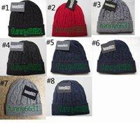 10 قطع الشتاء امرأة قبعة الرجل بارد الأزياء القبعات امرأة الحياكة قبعة للجنسين قبعة الدافئة الكلاسيكية كاب ماركة محبوك قبعة 8 ألوان انخفاض الشحن