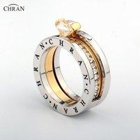 Chran monili eleganti oro austriaco di cristallo di colore Marca banda zircone Anelli di fidanzamento classico all'ingrosso pavimenta per le donne