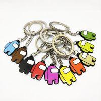 10 ألوان الأزياء والألعاب A-G US Keychain سبائك الزنك هدية ملونة سلاسل السيارات مفاتيح السيارة اكسسوارات الديكور