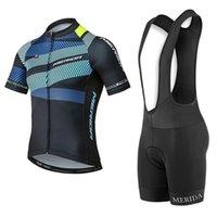 Ropa Ciclismo Yaz Erkekler Merida Takımı Bisiklet Forması Set Hızlı Kuru Bisiklet Kıyafetler Yol Bisikleti Giyim Fabrika Doğrudan Sale S210128122