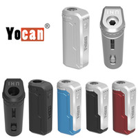 100% Orijinal Yocan Uni Box Mod 650 mah pil ön ısıtma değişken voltaj vv vap manyetik 510 adaptörü ile kalın yağ kartuşu otantik